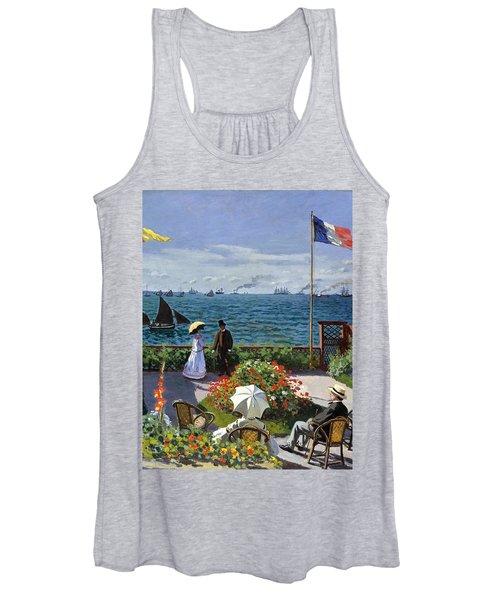 Garden At Sainte Adresse By Claude Monet Women's Tank Top