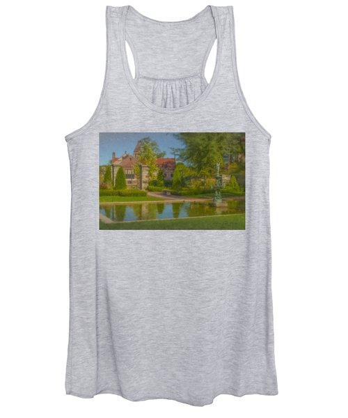 Garden Fountain At Ames Free Library Women's Tank Top