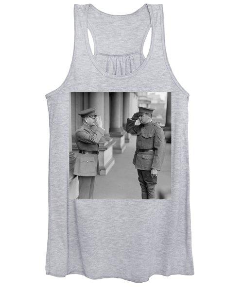 General John Pershing Saluting Babe Ruth Women's Tank Top