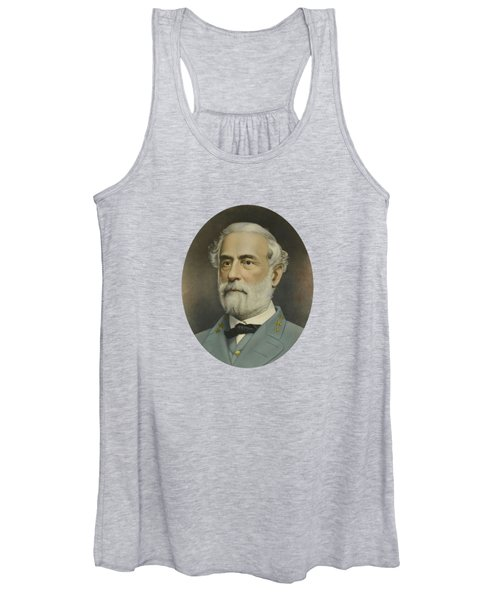 General Robert E. Lee Color Portrait  Women's Tank Top