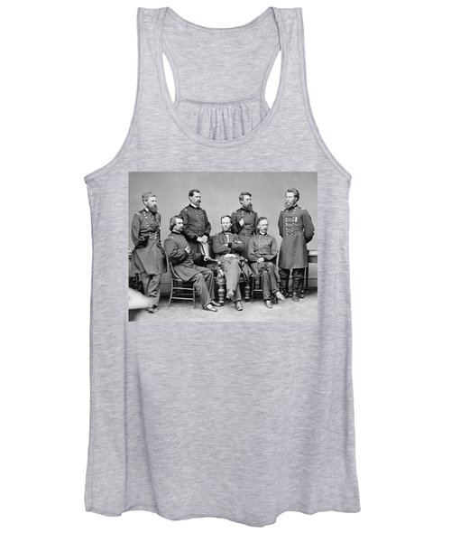 General Sherman And His Staff  Women's Tank Top