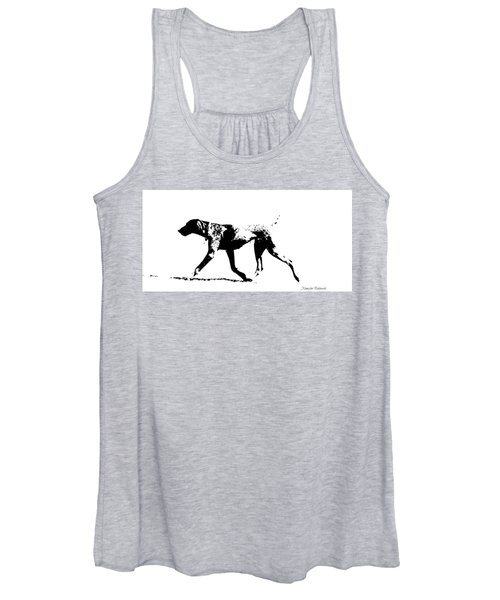 German Shorthair Pointer Gsp White And Black  Women's Tank Top
