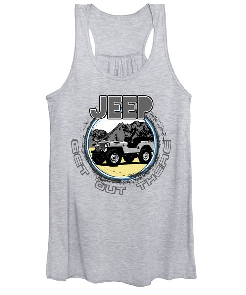 Get Out There In A Jeep Women's Tank Top