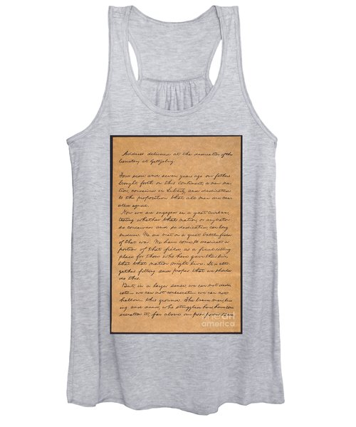 Gettysburg Address Women's Tank Top