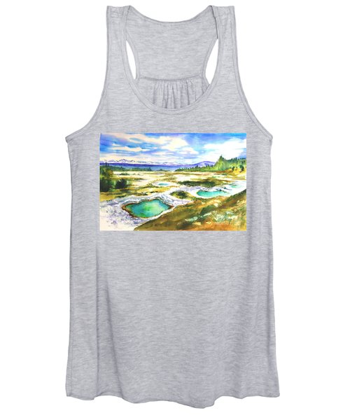 Geyser Basin, Yellowstone Women's Tank Top