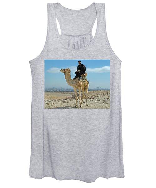 Giza Pyramids Camel Tourist Police Women's Tank Top