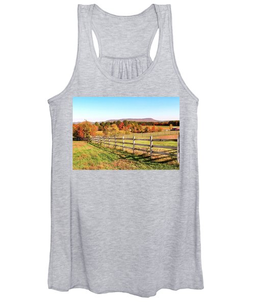 Glendale Road View In The Fall Women's Tank Top