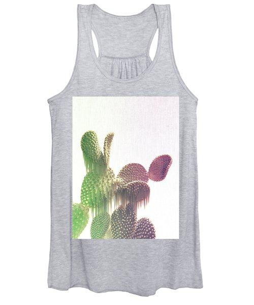 Glitch Cactus Women's Tank Top
