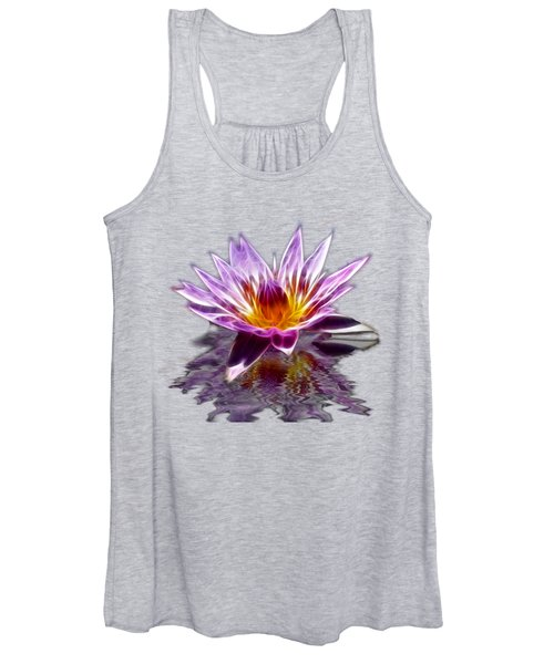 Women's Tank Top featuring the photograph Glowing Lilly Flower by Shane Bechler