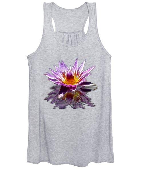Glowing Lilly Flower Women's Tank Top