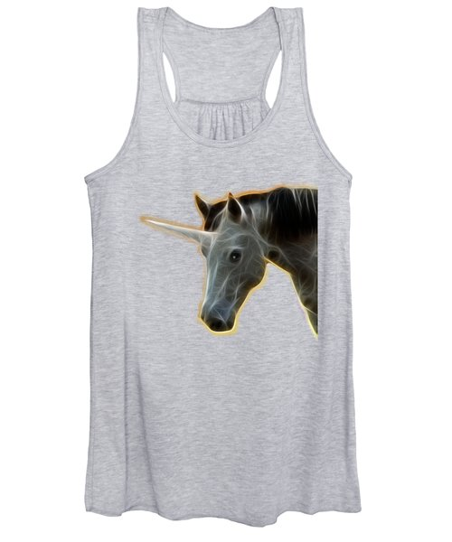 Glowing Unicorn Women's Tank Top