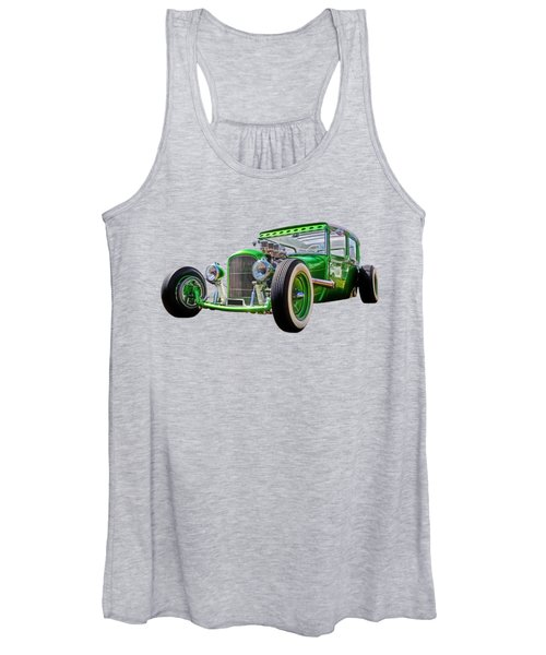Go Faster Green - Vintage Hot Rod Women's Tank Top