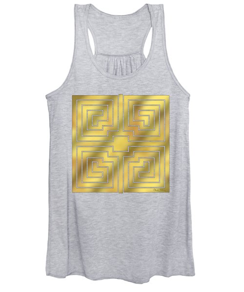 Gold Geo 4 - Chuck Staley Design  Women's Tank Top
