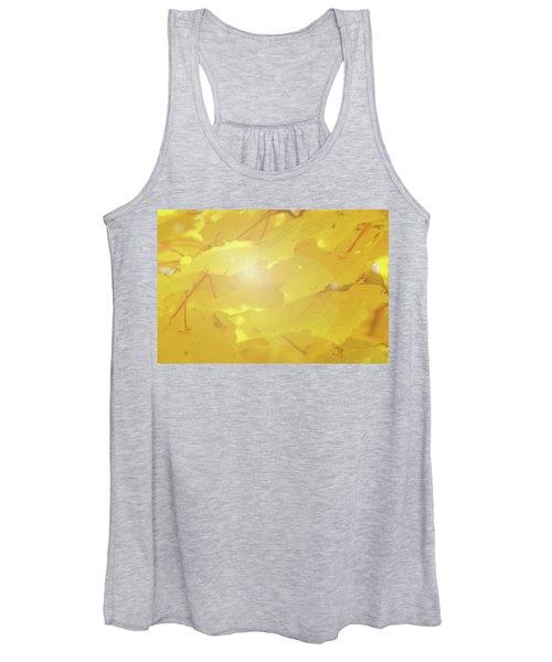 Golden Autumn Leaves Women's Tank Top