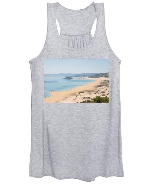 Golden Beach From A High Perspective Women's Tank Top