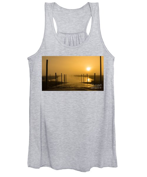 Golden Fog On The Nissequogue Women's Tank Top
