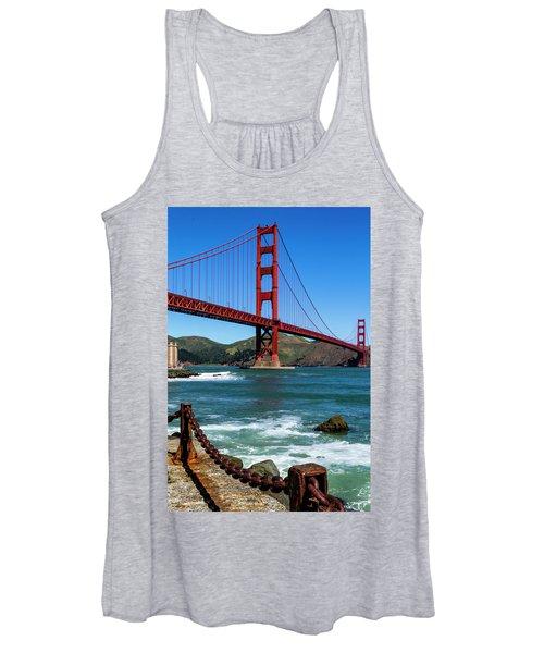 Golden Gate Bridge From Fort Point Women's Tank Top