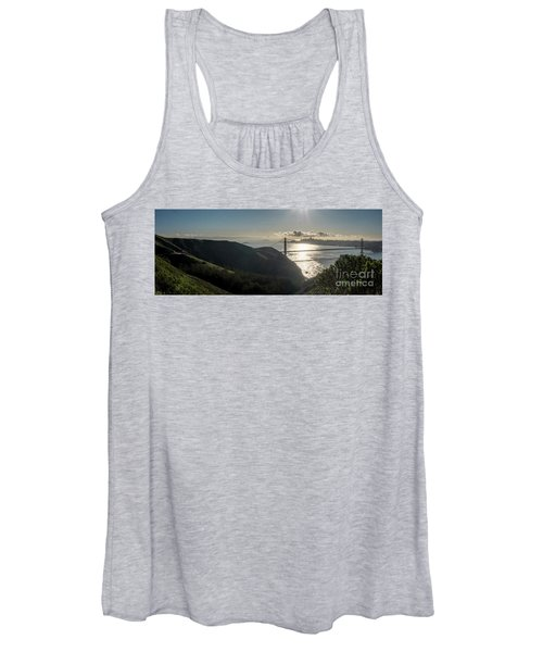 Golden Gate Bridge From The Road Up The Mountain Women's Tank Top