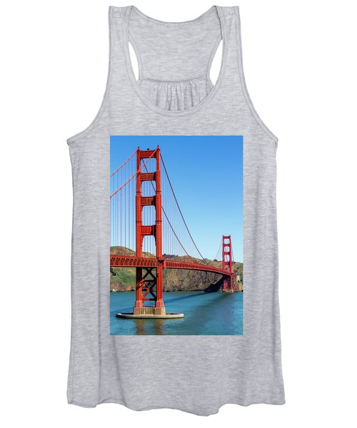 Golden Gate Bridge On Sunny Morning Women's Tank Top