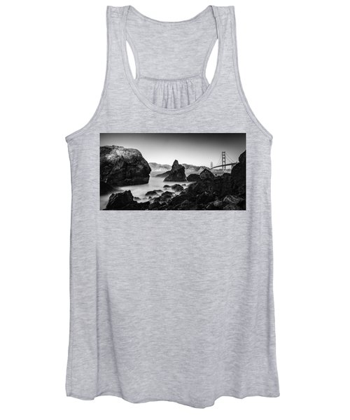 Golden Gate In Black And White Women's Tank Top