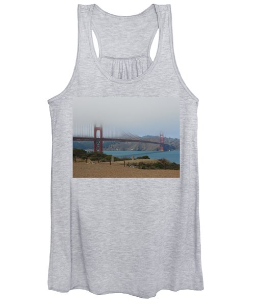Golden Gate In The Clouds Women's Tank Top