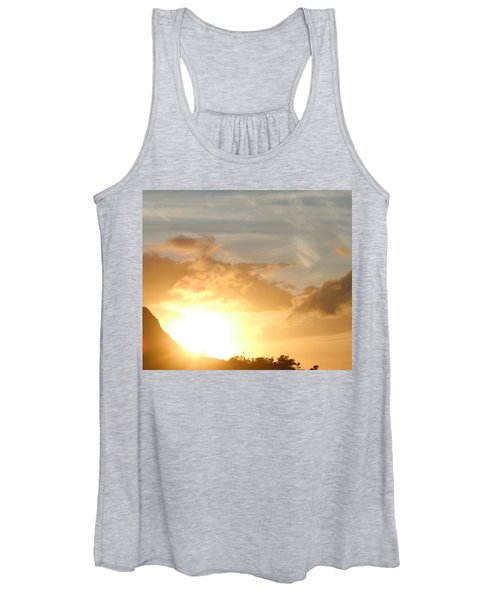 Golden Oahu Sunset Women's Tank Top