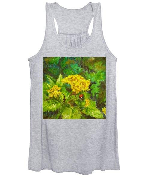 Golden Summer Blooms Women's Tank Top