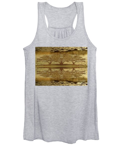 Golden Trees Reflection Women's Tank Top