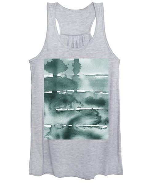 Gorgeous Grays Abstract Interior Decor Ix Women's Tank Top