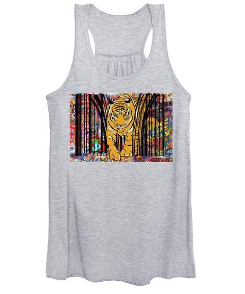 Graffiti Tiger Women's Tank Top
