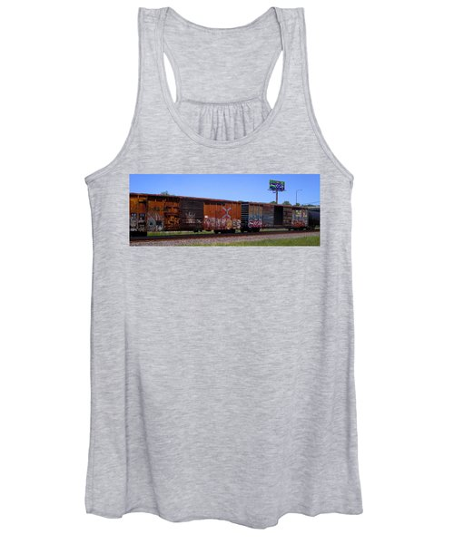 Graffiti Train With Billboard Women's Tank Top