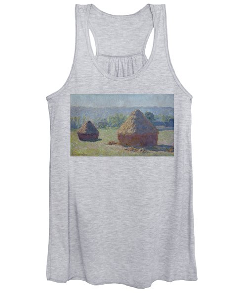 Grainstacks At The End Of Summer, Morning Effect, 1891 Women's Tank Top