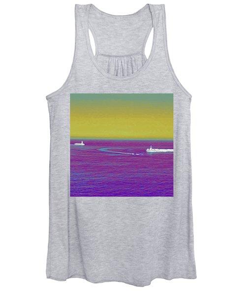 Purple Sea Women's Tank Top
