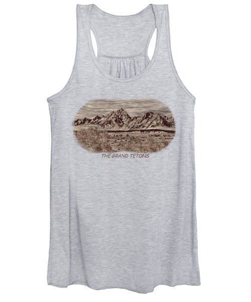Grand Tetons Woodburning 2 Women's Tank Top