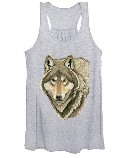 Gray Wolf Portrait Women's Tank Top