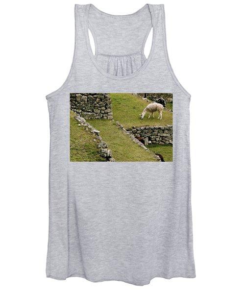 Grazing In Machu Picchu Women's Tank Top