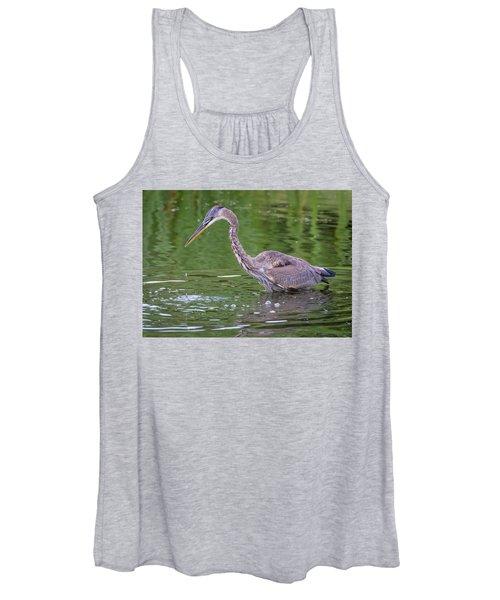 Great Blue Heron - The One That Got Away Women's Tank Top