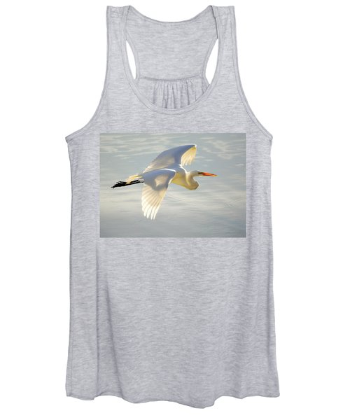 Great Egret Glow Women's Tank Top