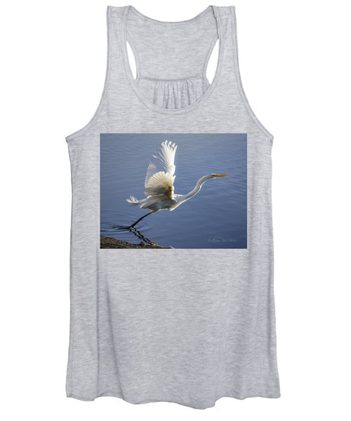 Great Egret Taking Flight Women's Tank Top