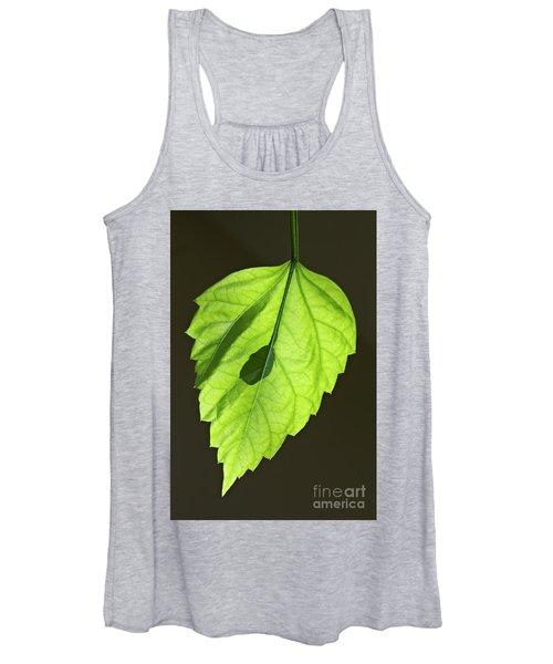 Green Hibiscus Leaf Women's Tank Top