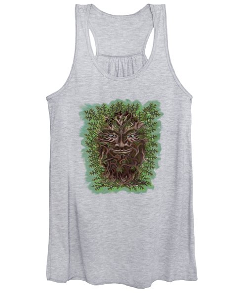 Green Man Of The Forest Women's Tank Top