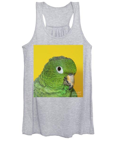 Green Parrot Head Shot Women's Tank Top