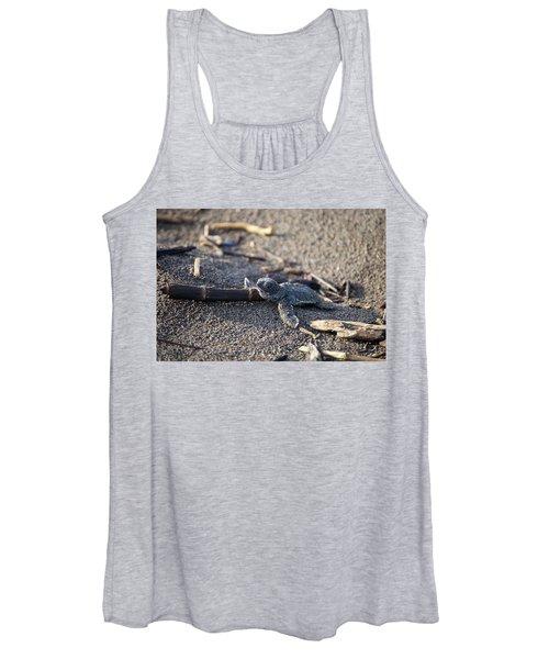 Green Sea Turtle Hatchling Women's Tank Top