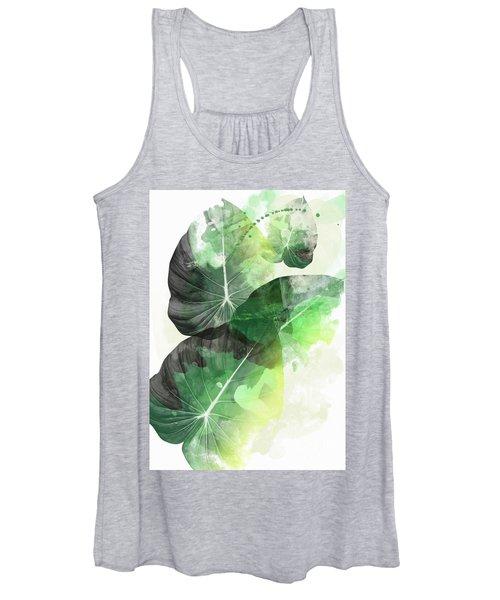 Green Tropical Women's Tank Top