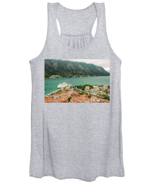 Gulf Of Kotor With Cruise Liner Women's Tank Top