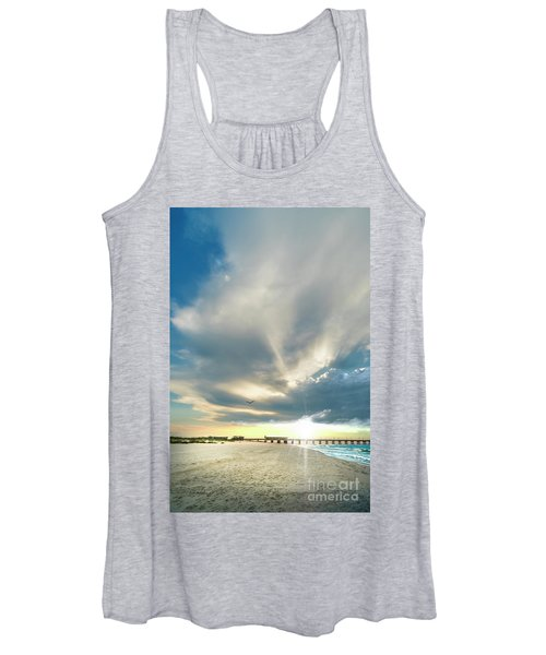 Gulf Shores Al Pier Seascape Sunrise 152a Women's Tank Top