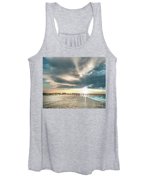 Gulf Shores Al Pier Seascape Sunrise 152c Women's Tank Top