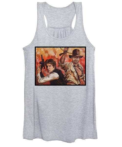 Han Solo And Indiana Jones Women's Tank Top