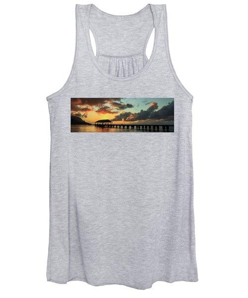 Hanalei Pier Sunset Panorama Women's Tank Top