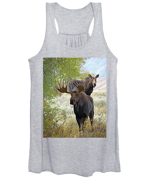 Handsome Bull With Cow Women's Tank Top